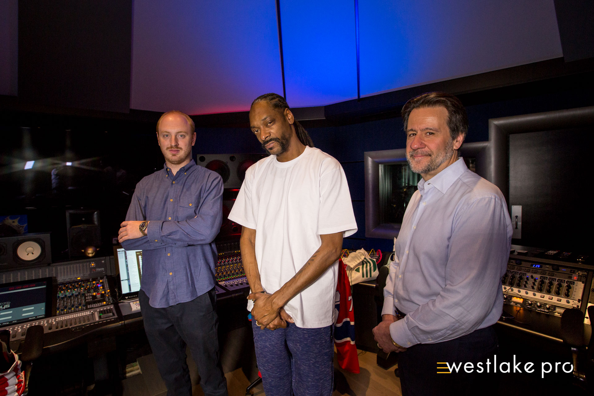 Jonathan Deans, Snoop Dogg, and George Adjieff