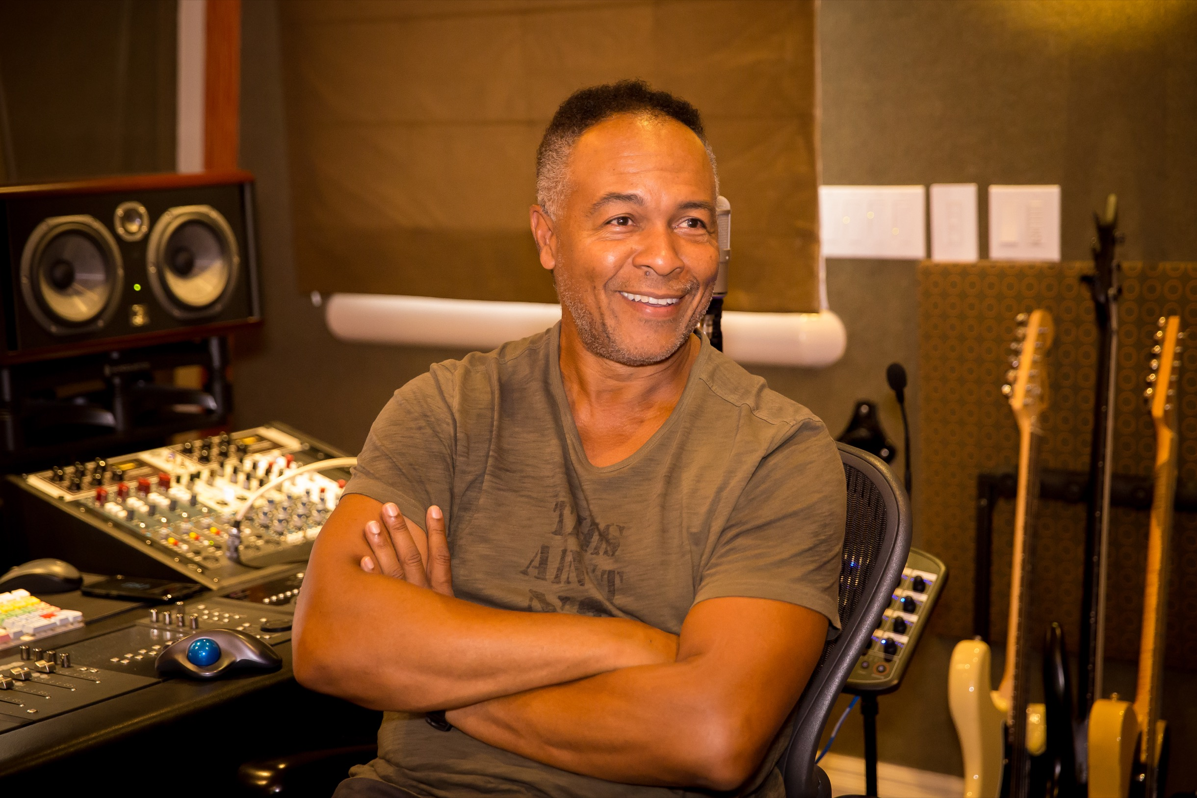 Ray Parker Jr. in his Studio
